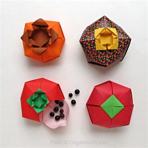 origami tomato origami boxes learn how to make a tomato shaped origami