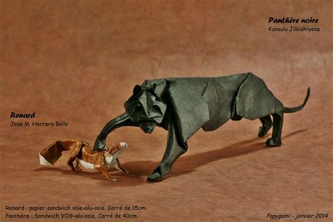 panther origami 25 purr fect origami cats fur real i m not kitten