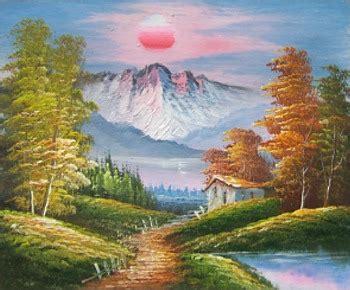 painting landscapes landscape painting sun the mountains item 4292 size