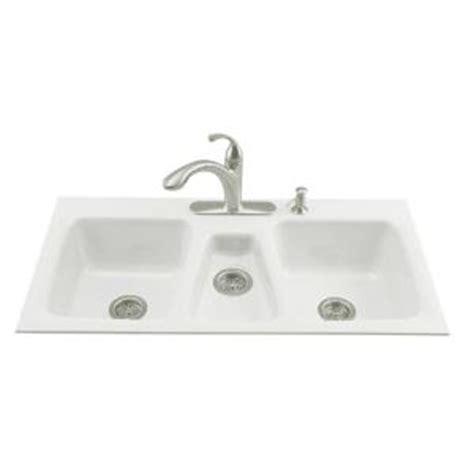 discontinued kitchen sinks kohler trieste tile in cast iron 43x22x8 625 4
