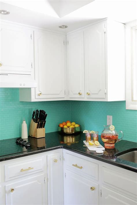 painted kitchen backsplash why renovate when these easy home updates are possible