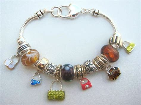 pandora bead bracelets multicolor fashion purse charm bead bracelet pandora