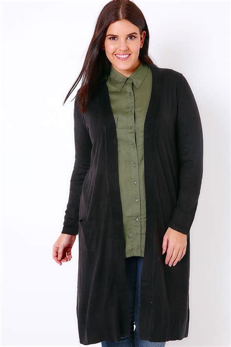 plus size knit with pockets black maxi knit cardigan with pockets plus size 16 to 36
