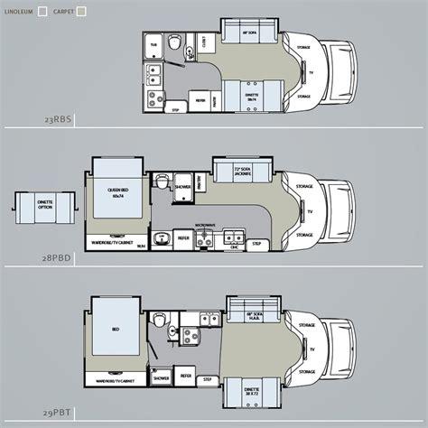 type b motorhome floor plans chinook rv floor plans