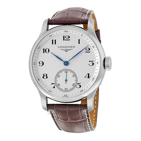 brown leather watches for longines master collection silver brown leather s l26404785 master collection