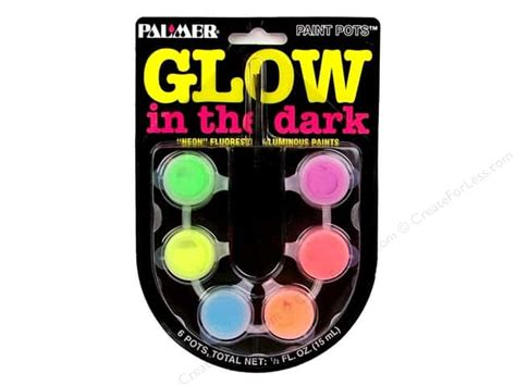 acrylic paint glow in the glow in the acrylic paint set 6 pot mini createforless