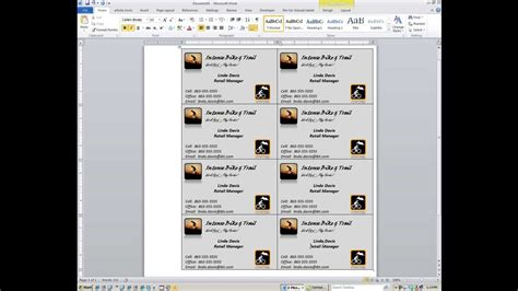 how to make business cards in word 2007 word how to create custom business cards