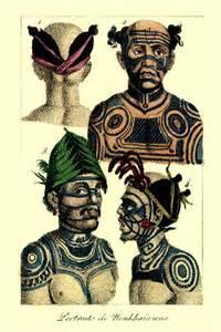 le tatouage du visage hier en 1802 et aujourd hui en 2007 les marquises