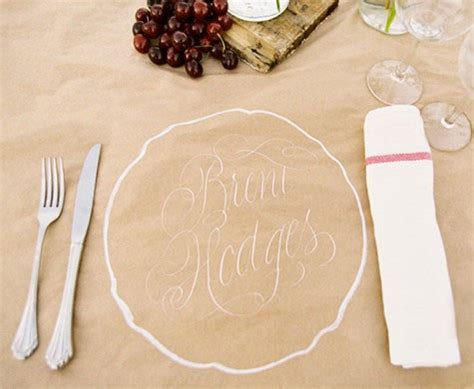 paper craft ideas for weddings unique place settings