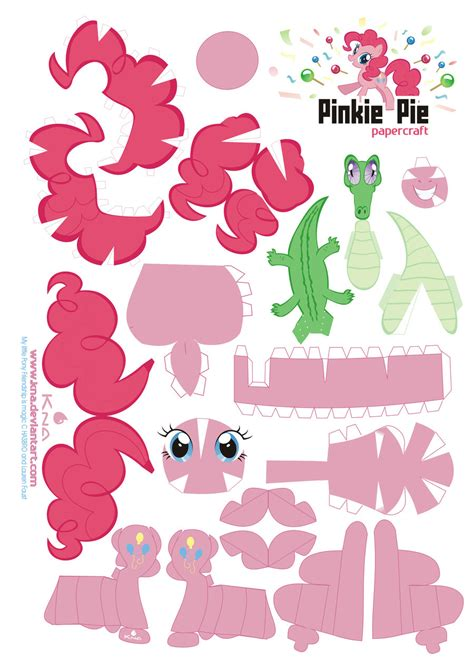 my paper crafting pinkie pie papercraft by kna on deviantart