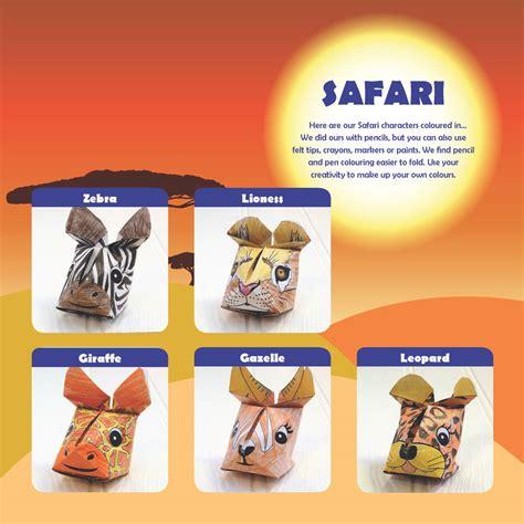 origami safari animals safari animals origami craft kit by popagami