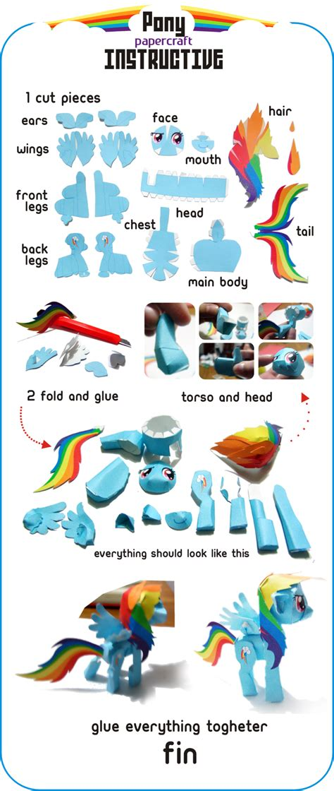 pony crafts pony papercraft by kna on deviantart