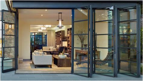 bi folding glass doors exterior for an open an airy feel folding sliding glass doors are a