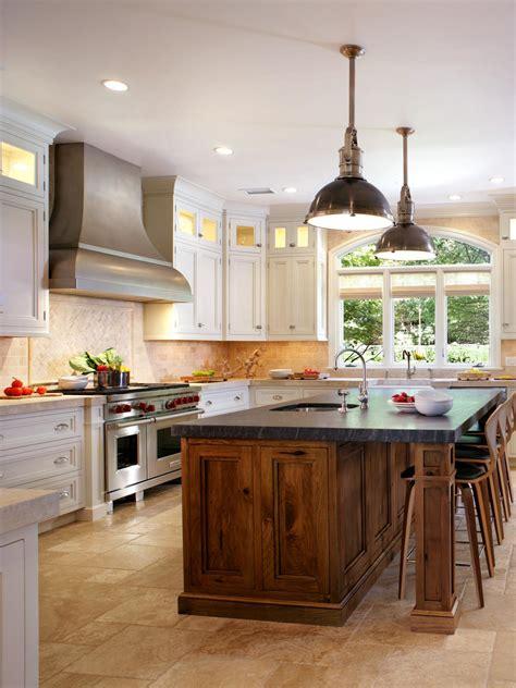 white kitchen wood island white kitchen with butternut wood island hgtv