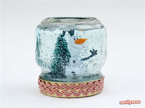 snow globe craft mollymoocrafts crafts how to make a snow globe