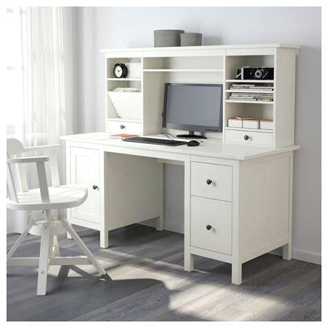 ikea hemnes computer desk hemnes desk with add on unit white stain 155x137 cm ikea