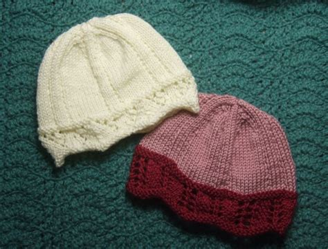 knitted chemo cap patterns free laced edged chemo caps for needles charity