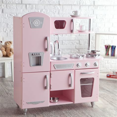 kid craft kitchen kidkraft pink vintage kitchen play kitchens at hayneedle