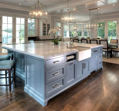 painted kitchen floor ideas chalk painted large island with reddish brown wooden floor design for fabulous kitchen