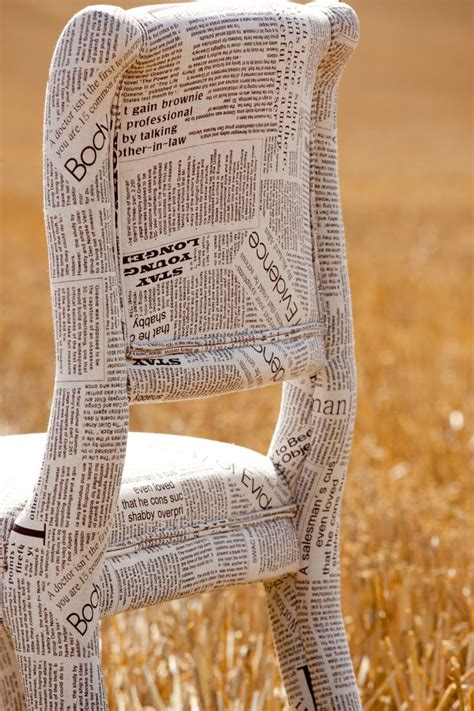 decoupage fabric to wood newspaper fabric chair could actually papier mache