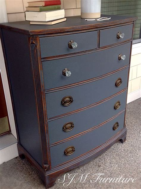 chalk paint gray dresser beautiful antique dresser painted in steel gray chalk