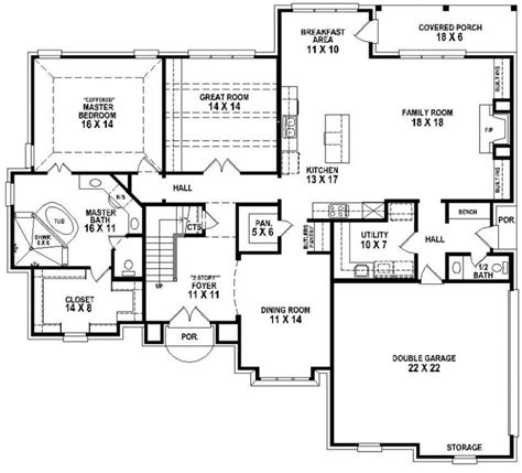 and bathroom house plans 653906 beautiful 4 bedroom 3 5 bath house plan with