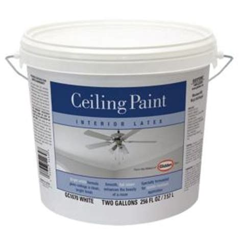 home depot ceiling paint quart glidden 2 gal bright white interior flat ceiling paint