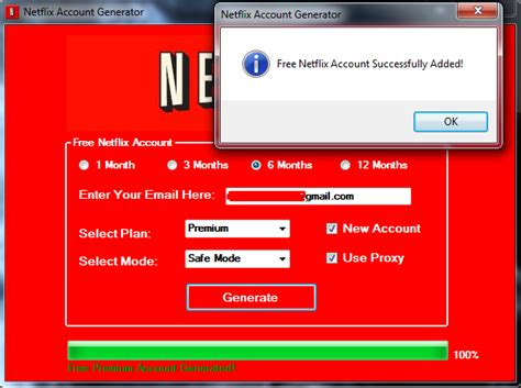 how to make a free netflix account without credit card netflix premium accounts generator mods features of