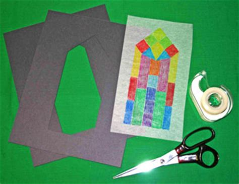 crafts out of construction paper funezcrafts easy paper crafts faux stained glass