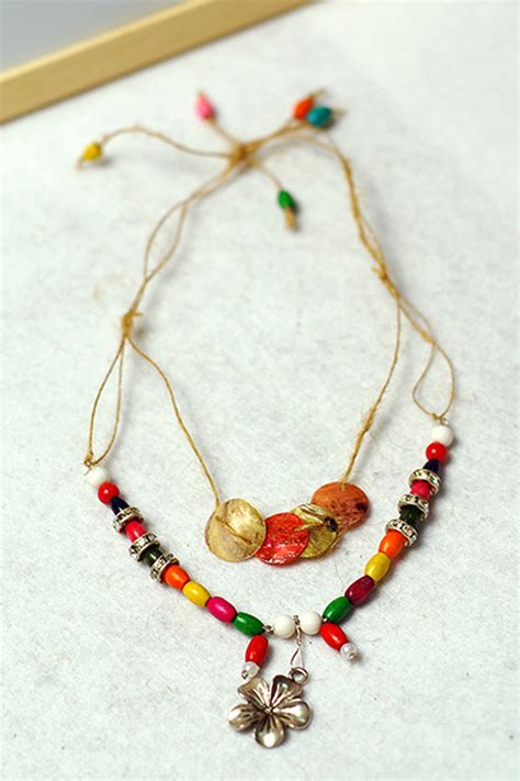 diy bead jewelry diy a colorful wooden bead necklace pictures photos and