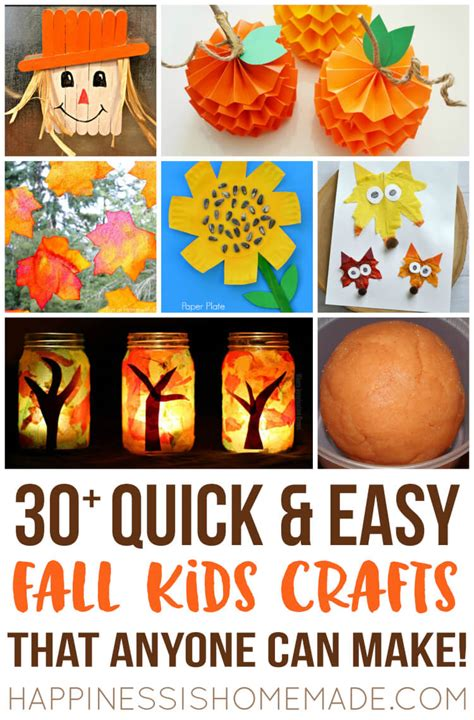 toddlers can make easy fall crafts that anyone can make happiness is