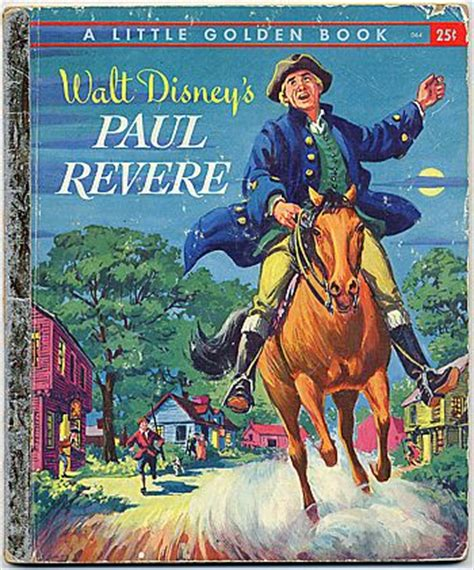 a picture book of paul revere paul revere golden book disneywiki