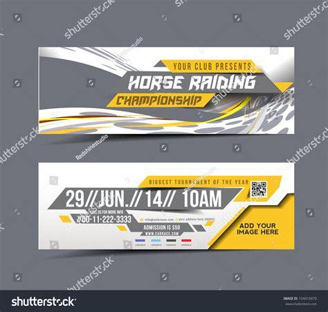 horse riding web banner header layout stock vector