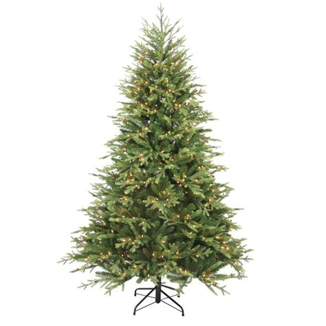 balsam pine artificial tree home accents 7 5 ft pre lit balsam artificial