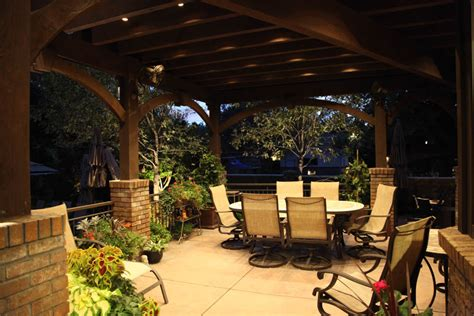 patio deck lighting patio pergola and deck lighting ideas and pictures