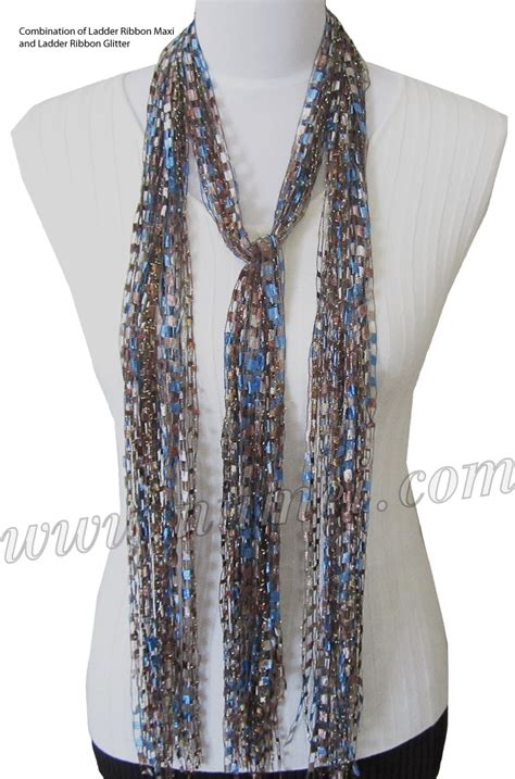 ladder yarn knitting patterns free pattern ribbon yarn scarves