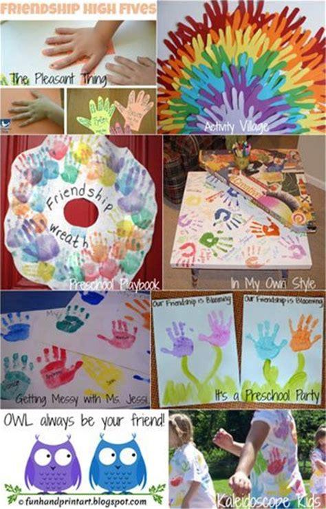 friendship craft ideas friendship crafts made with handprints handprint