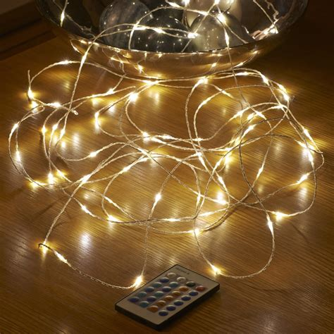 mains lights micro led string lights mains powered remote