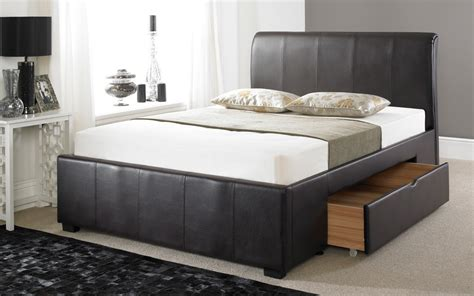 drawer bed faux leather drawer bed frame mattress