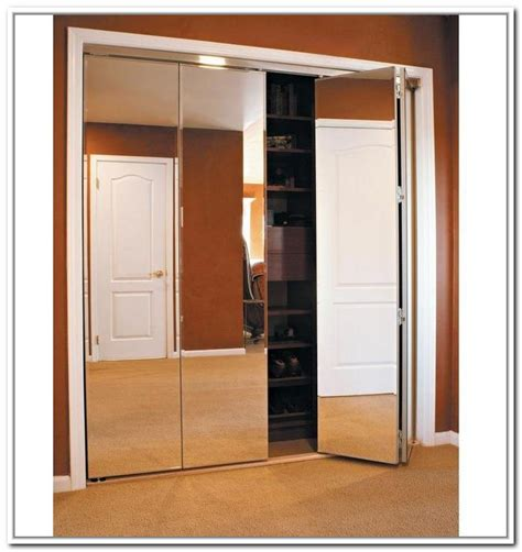 folding closet doors folding closet doors mirror