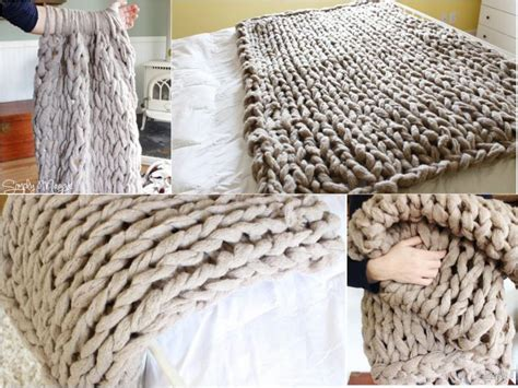 how to arm knit blanket learn how to arm knit a blanket in 45 minutes diy find