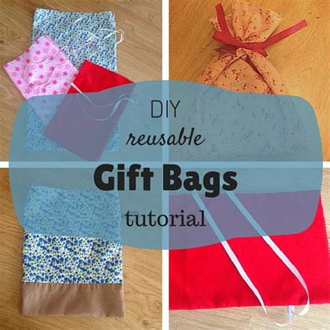 diy gift bags reusable diy gift bags allfreesewing