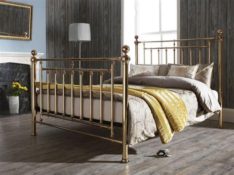metal king size bed frames serene solomon king size brass metal bed frame