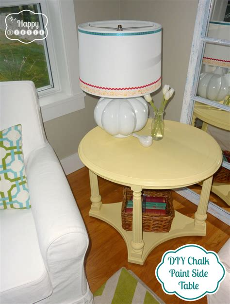 diy chalk paint watery mellow yellow diy chalk paint side table the happy housie