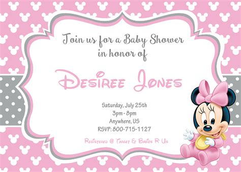 how to make minnie mouse invitation cards minnie mouse baby shower invitations templates
