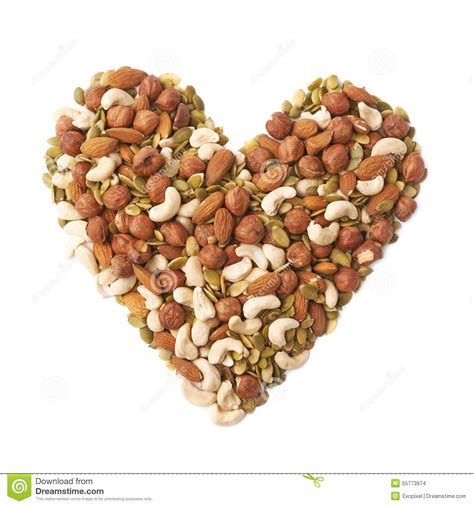 how seed are made shape made of nuts and seeds stock photo image