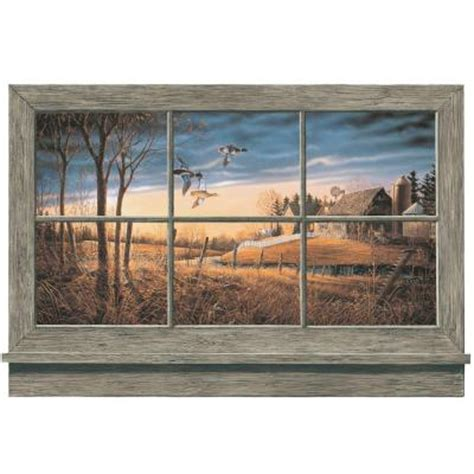 home depot wall murals york wallcoverings 36 in x 27 in rustic window wall