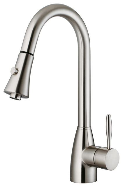 Stainless Kitchen Faucets vg02013st stainless steel pull out spray kitchen faucet