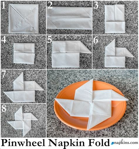 napkin folding origami pinwheel napkin fold how to fold a napkin
