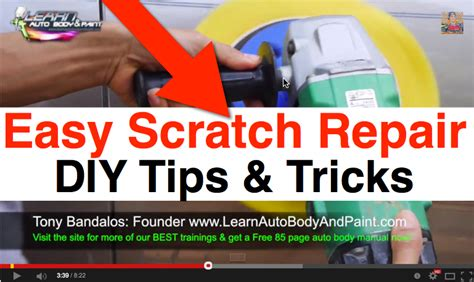 learn car body work repair easy to follow step by step guide on dvd video ebay automotive paint scratch repair